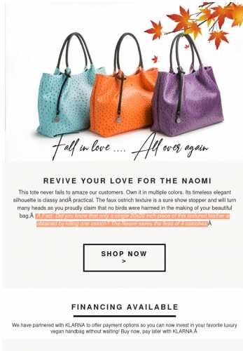 The NAOMI: Now in these beautiful new colors!