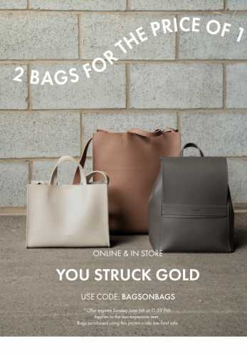 LAST DAY! Two bags for the price of one 👛