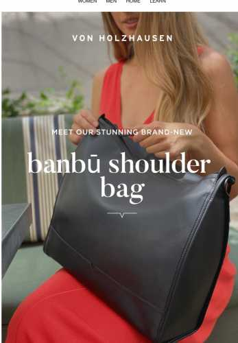 Introducing our brand-new Banbū Shoulder Bag