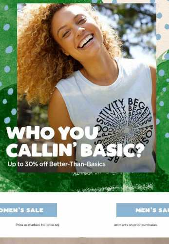 Summer Sale: Stock Up on Better-Than-Basics
