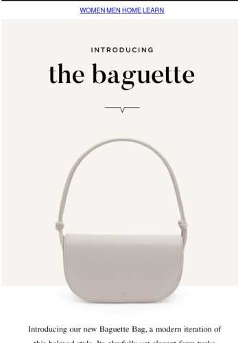 Introducing: Our Baguette Bag