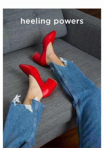 HEELIN' POWERS    Statement footwear for SS18.